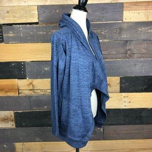 Athleta oversized open front hooded sweater Med